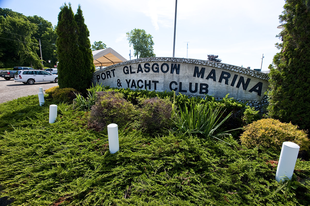 Port Glasgow Yacht Club sign